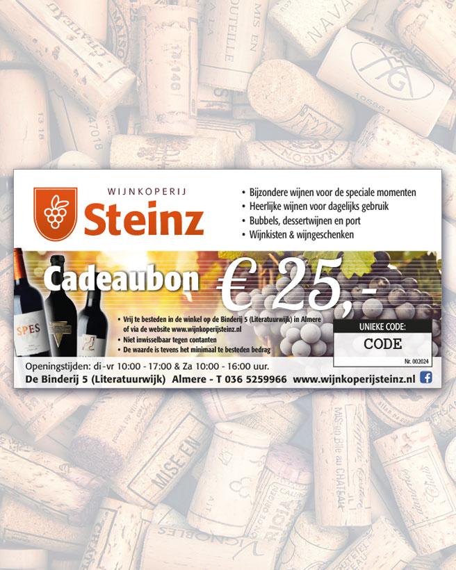 wijngeschenkbon 25 euro